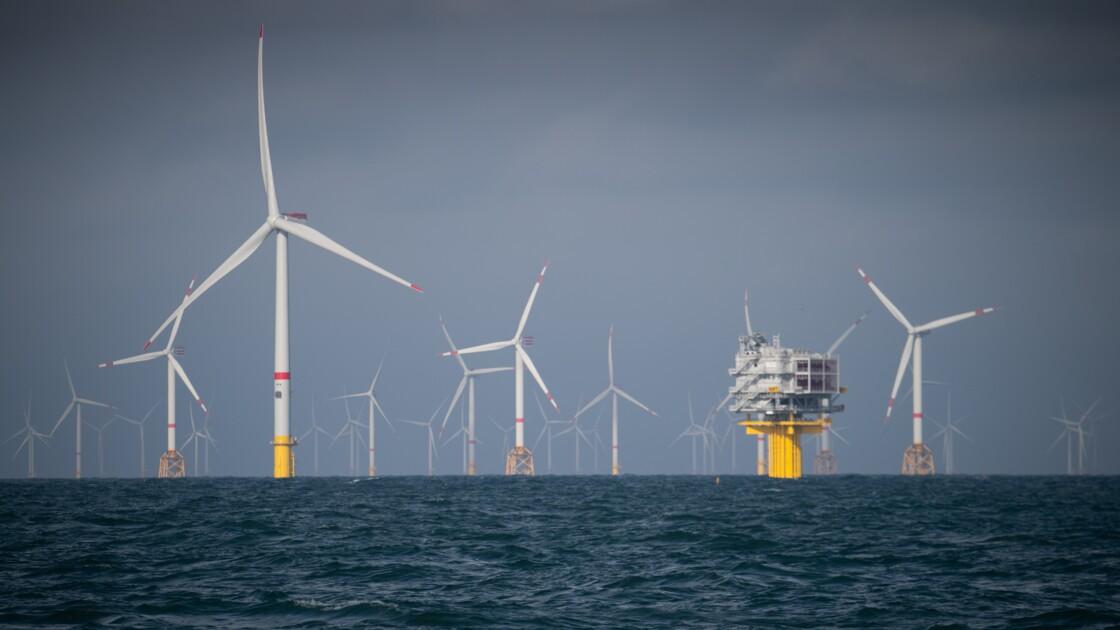 Au large de la côte belge, des éoliennes gagnent en puissance