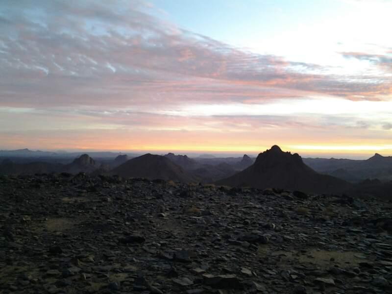 Parc culturel de l'Ahaggar dans le massif du Hoggar à l'extrême sud de l'Algérie