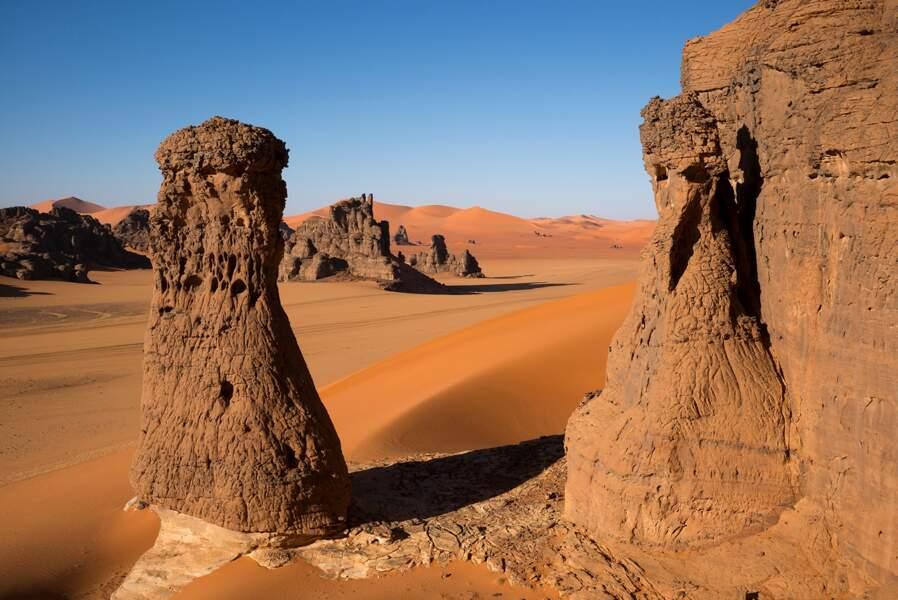 """Les dunes de Tin Merzouga connues comme étant """"les portes du désert"""""""