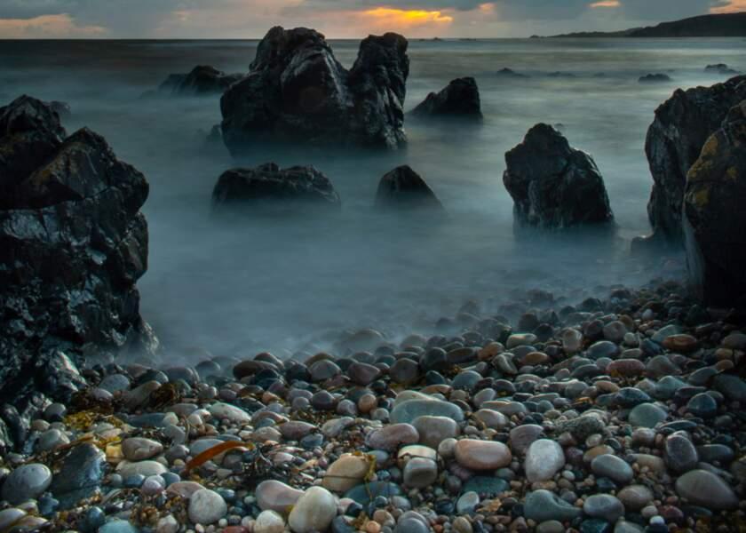 Coucher de soleil sur le Malin Head (Irlande)