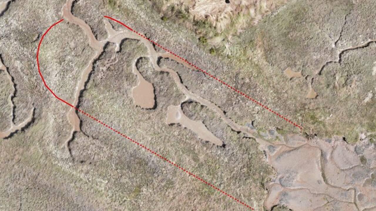 A l'aide d'un drone, des experts découvrent le quai où le bateau de Charles Darwin aurait été démantelé