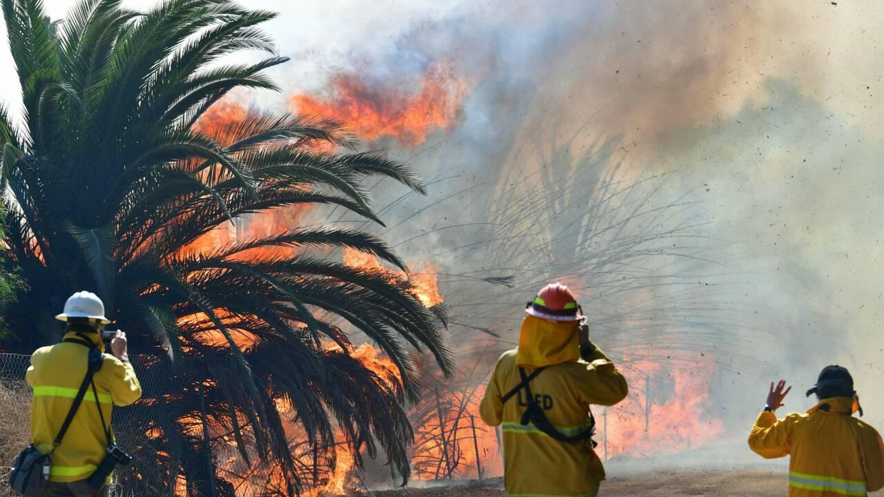 Californie: la bibliothèque Ronald-Reagan épargnée, mais les feux persistent