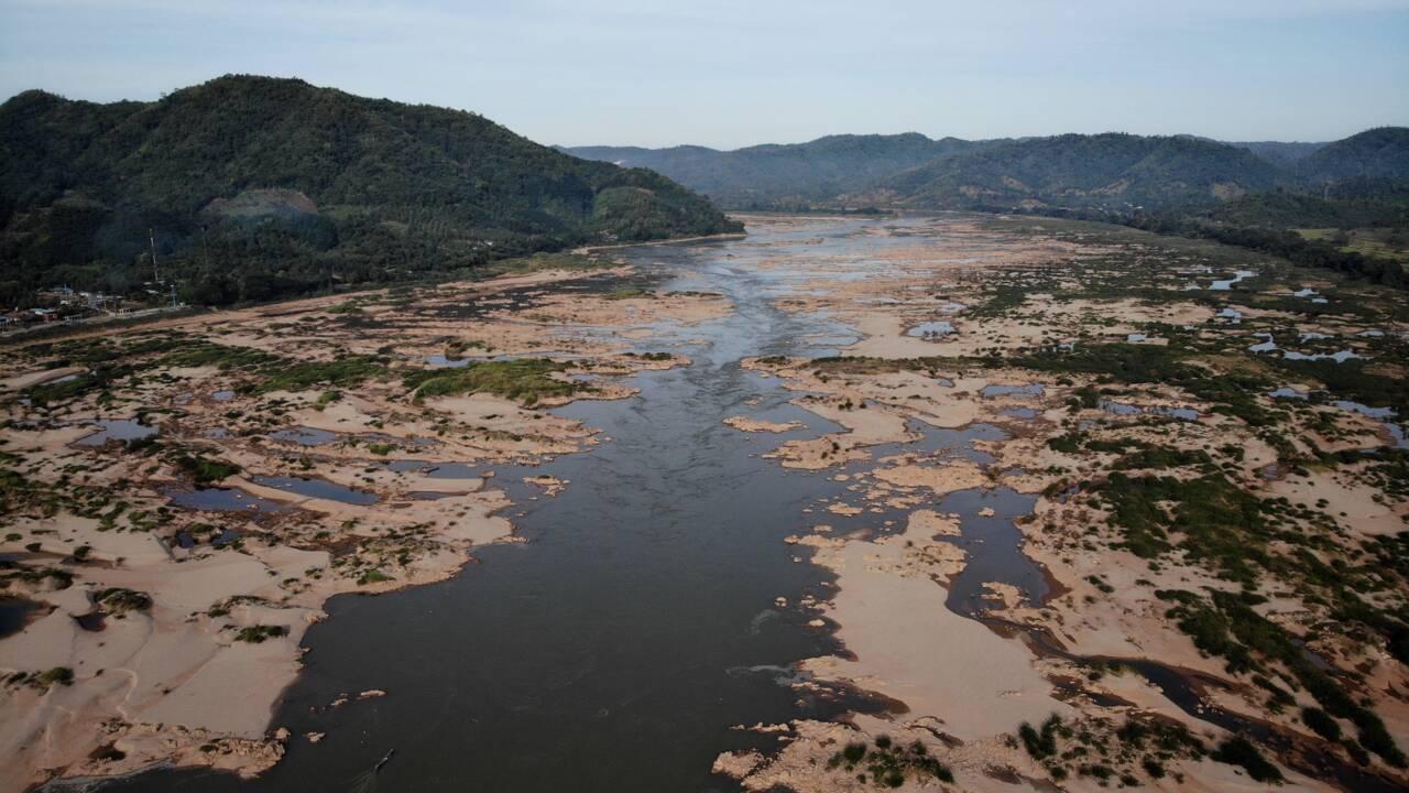 Sécheresse, frénésie de barrages: le niveau du Mékong au plus bas