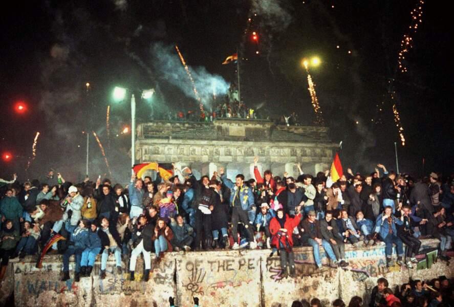 31 décembre 1989, la porte de Brandebourg en fête