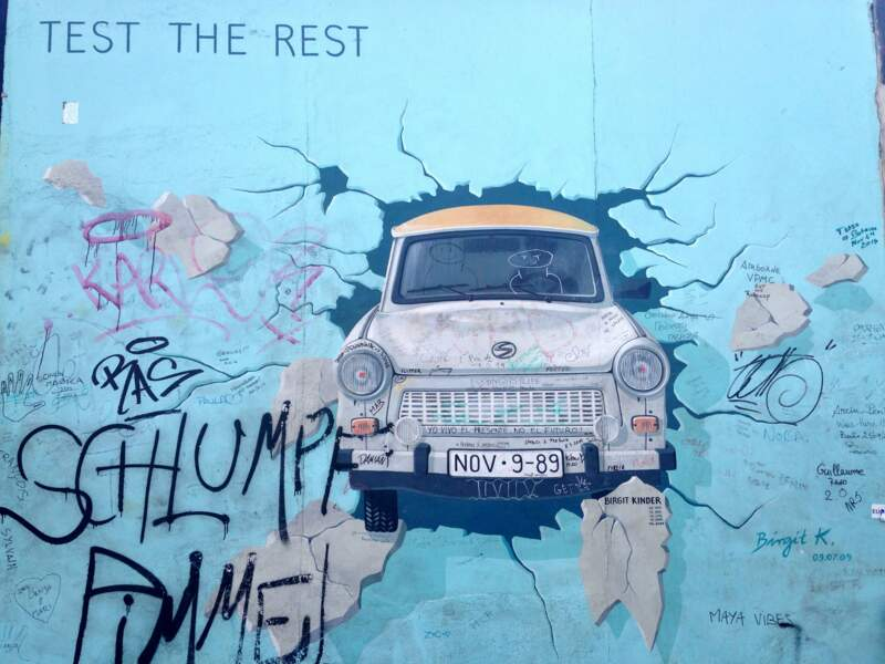 Un pan du Mur de Berlin
