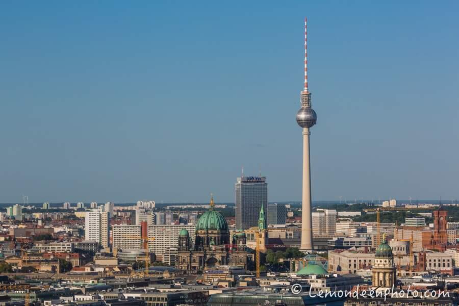 Vue sur les toits de Berlin depuis le Panoramapunkt