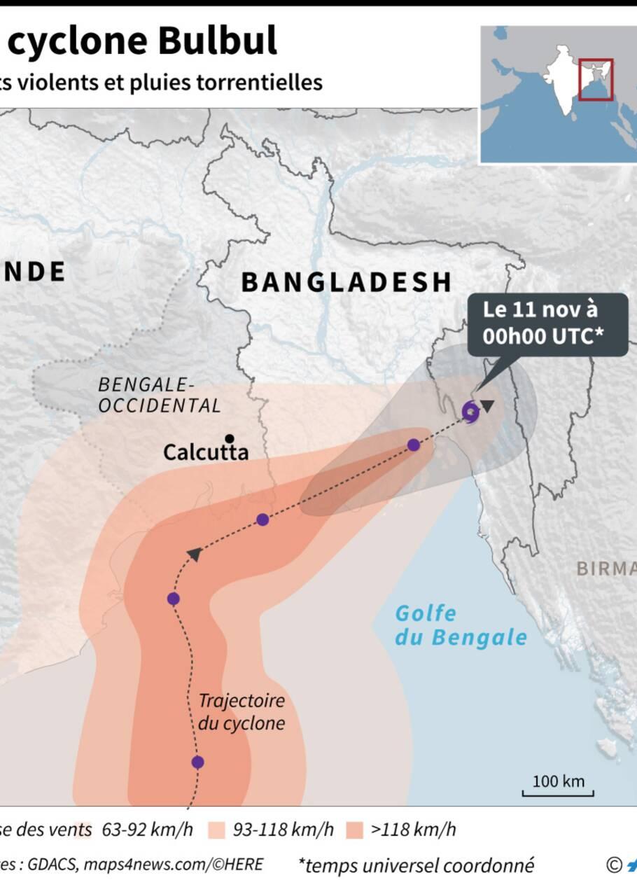 Le cyclone Bulbul a frappé le Bangladesh et l'Inde, faisant 20 morts