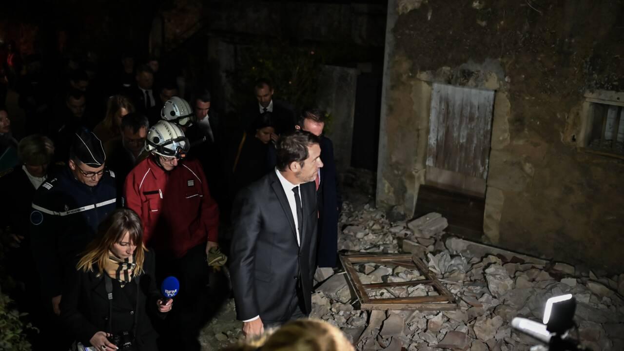 """Castaner: """"800 maisons directement impactées"""" par le séisme au Teil"""
