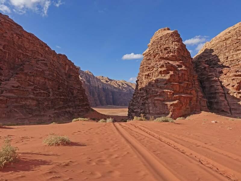 Les dunes rouges de Wadi Rum