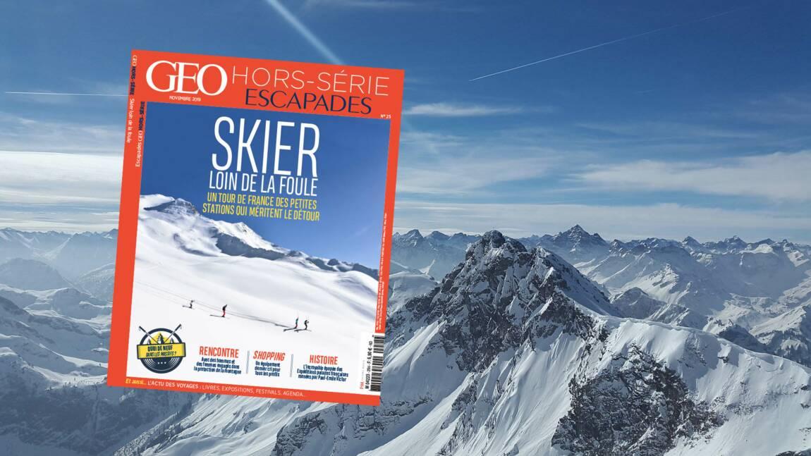 Skier loin de la foule : le nouveau hors-série GEO Escapades est en kiosque