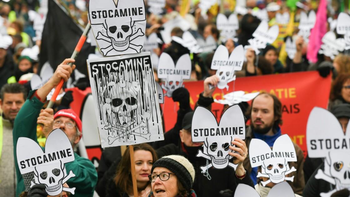 Alsace: manifestation pour le déstockage des déchets dangereux du site Stocamine