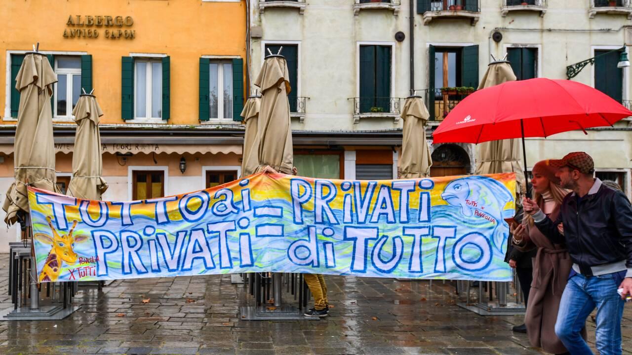 A Venise, à nouveau inondée, les habitants dénoncent l'inaction des autorités