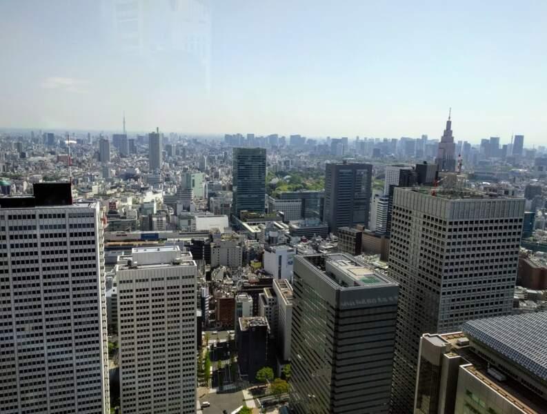 Panorama sur les tours de Tokyo