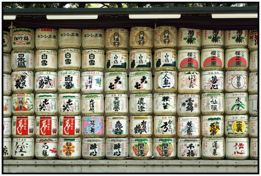Réserve de saké au sanctuaire Meiji-jingū