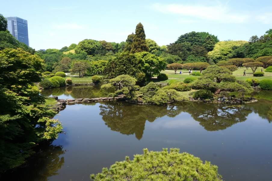 Jardin Rikugien en plein coeur de Tokyo