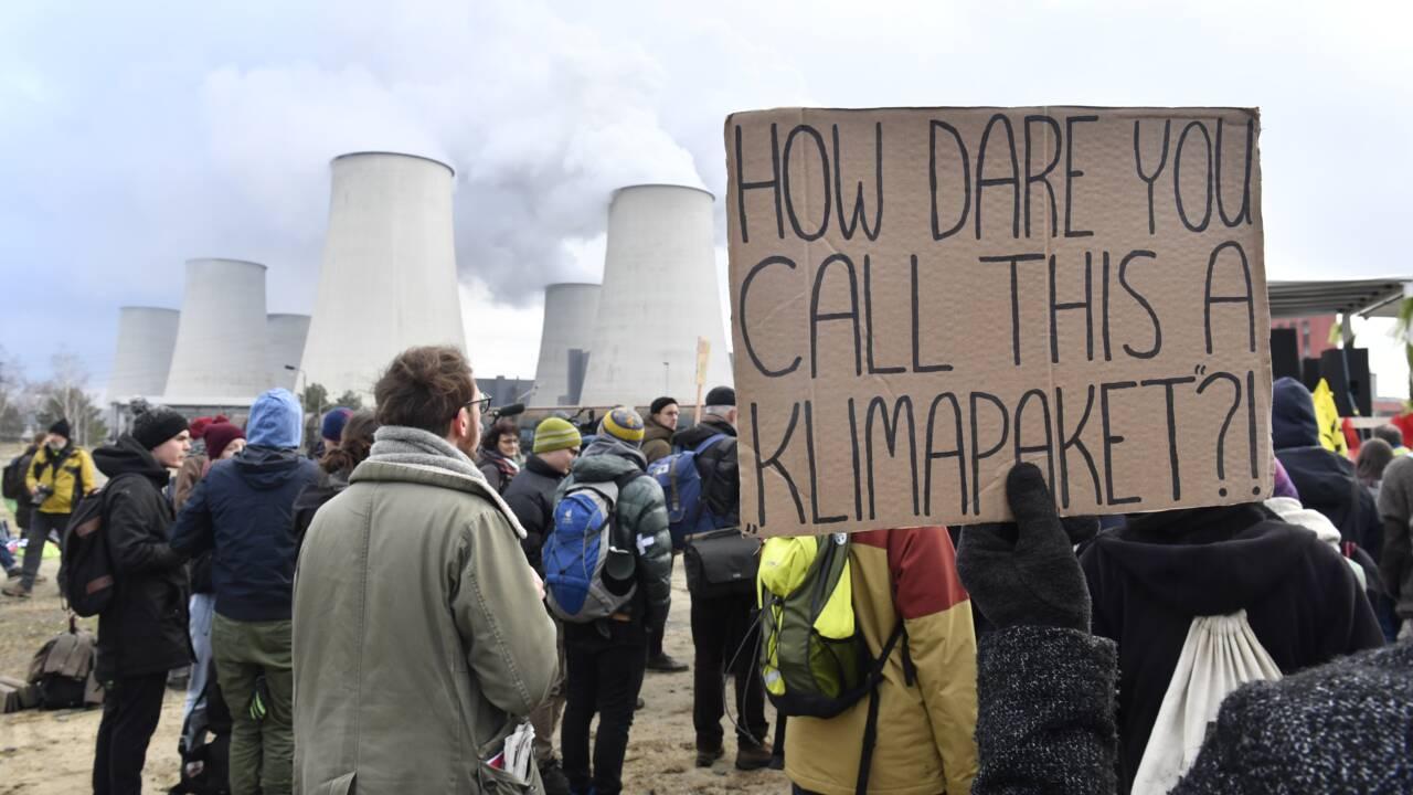 Des militants pour le climat ont occupé des mines de charbon allemandes