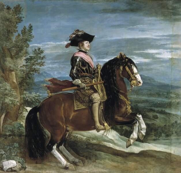 Philippe IV à cheval, par Diego Velázquez