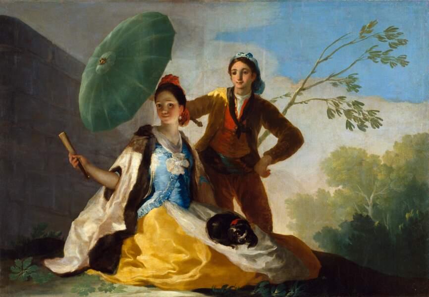 Le Parasol, par Francisco de Goya