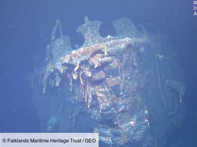 Une épave de la Première Guerre mondiale découverte engloutie au large des îles Malouines