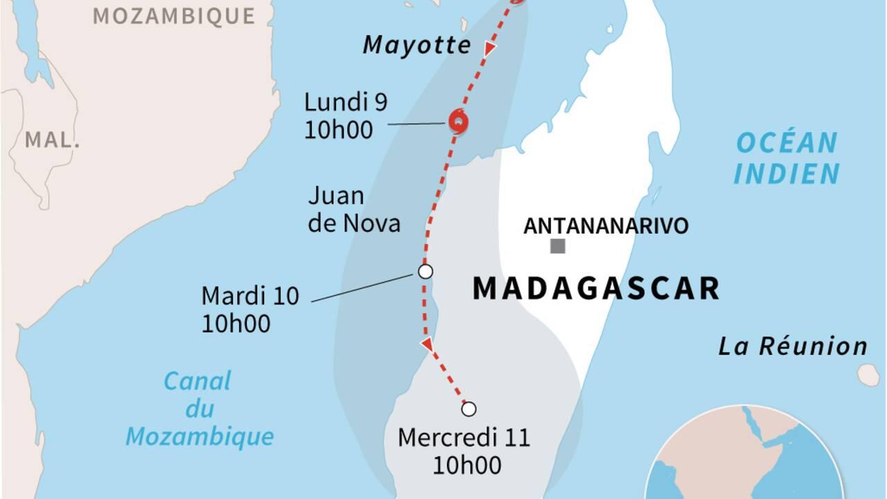 Mayotte, en alerte rouge, se prépare au passage du cyclone Belna