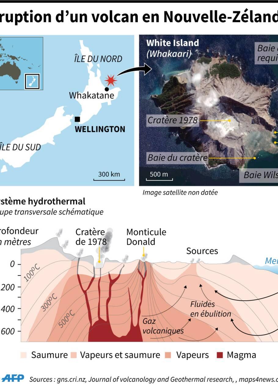"""""""Douleur insondable"""" en Nouvelle-Zélande après une éruption: cinq tués et huit disparus"""