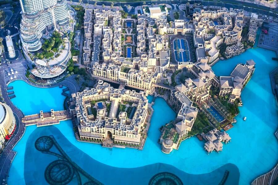 La vue depuis Burj Khalifa
