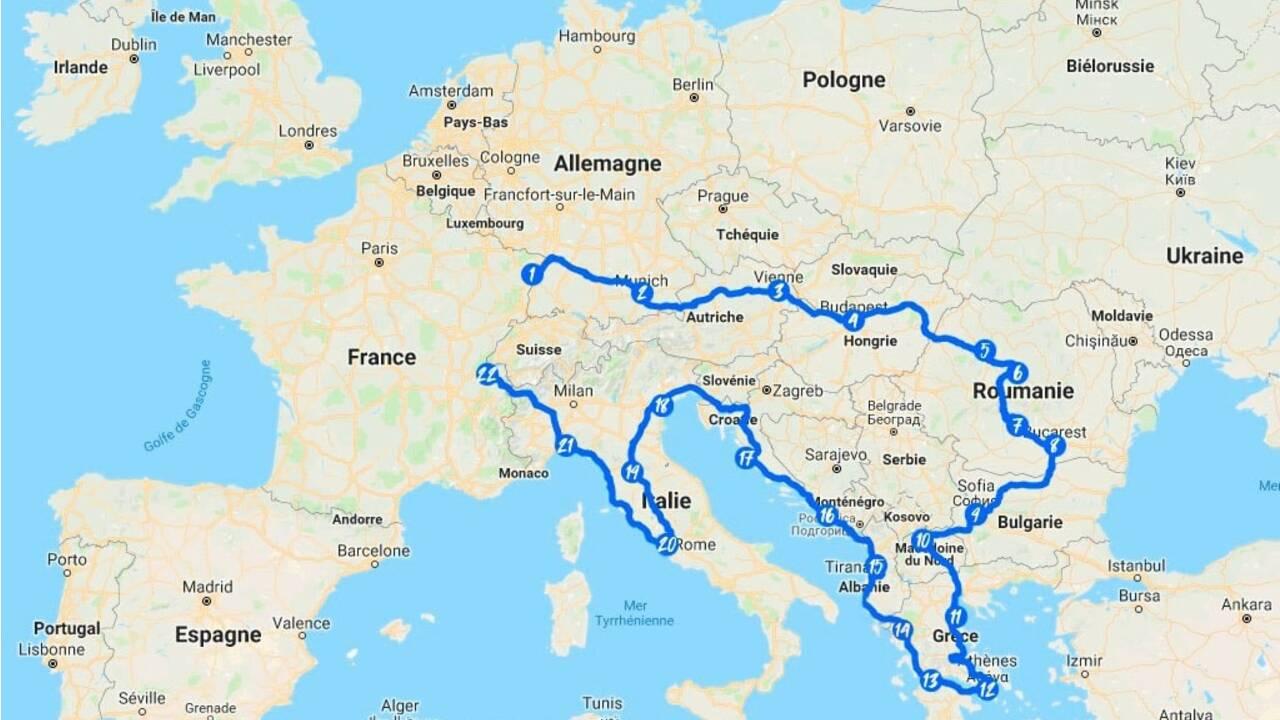 Blue Rally Europe : embarquez pour une aventure de 7000 km en 4L à travers le continent