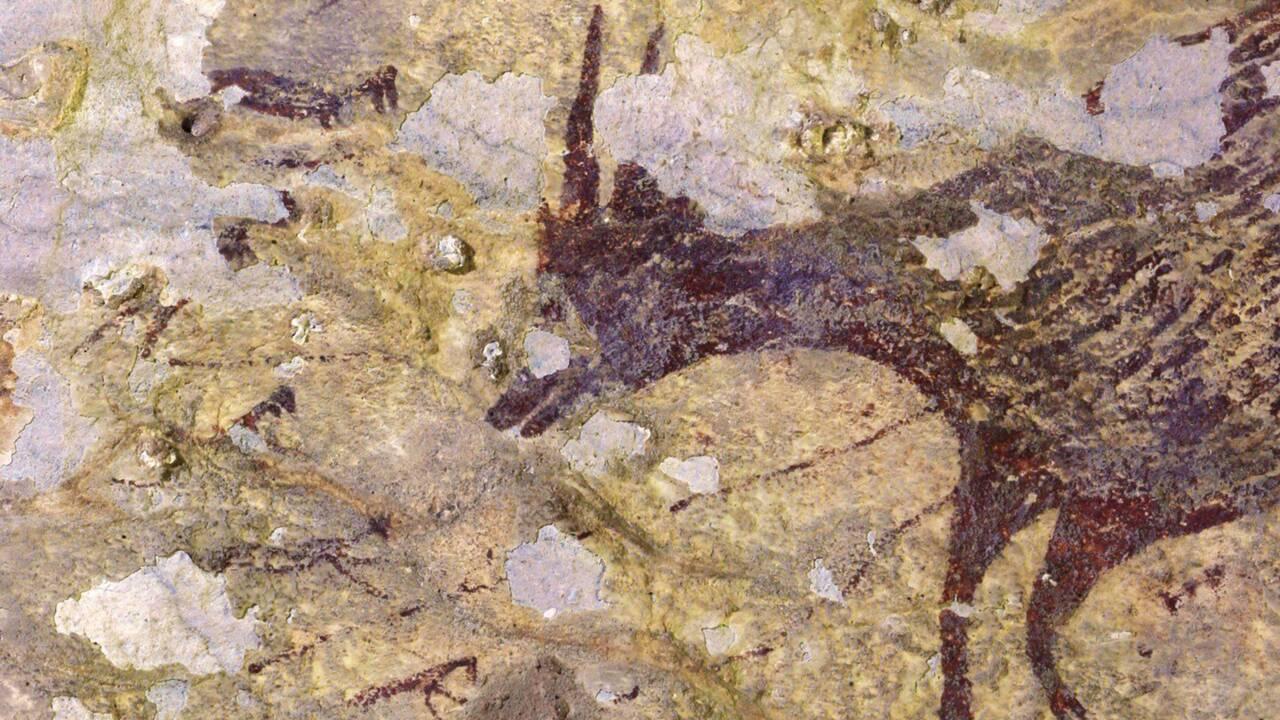 Une scène de chasse peinte il y a plus de 40000 ans révélée dans une grotte d'Indonésie