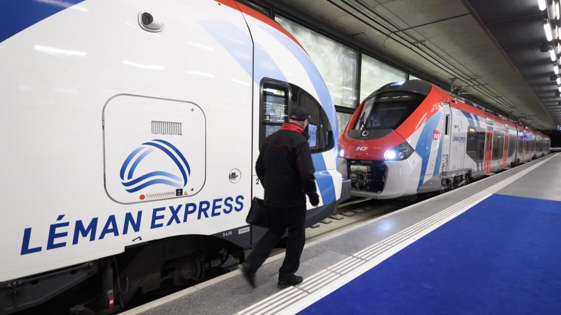 """Inauguration d'un """"train d'union"""" transfrontalier entre Genevois et Savoie"""