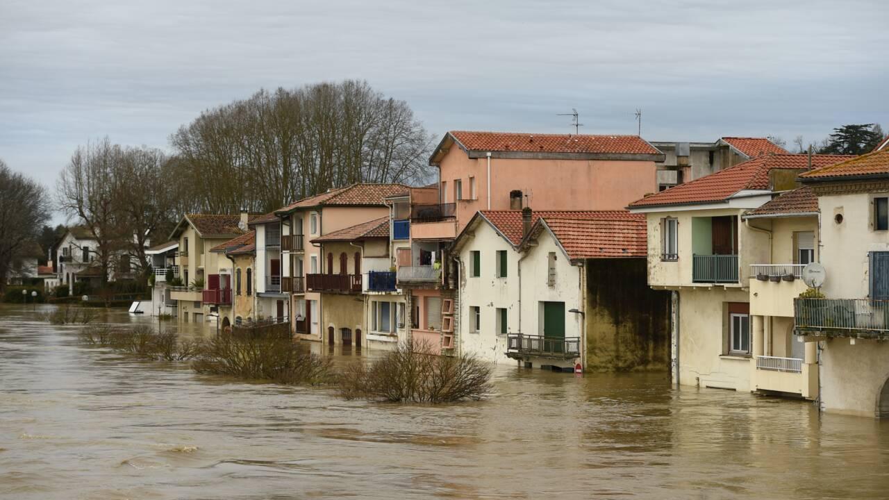 Intempéries: disparition d'un homme dans un secteur inondé des Landes