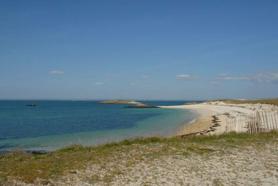 Plage sur l'archipel des Glénan (Finistère)