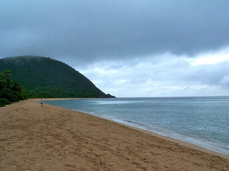 Plage de Grande Anse, à Deshaies