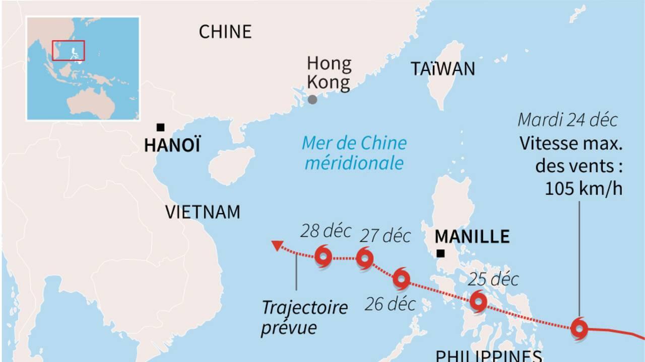 Un typhon touche les Philippines à la veille de Noël