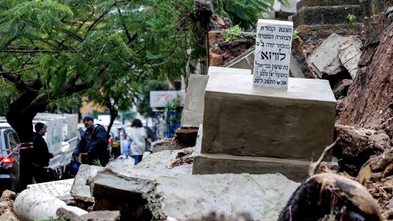 Liban: des tombes de l'unique cimetière juif  endommagées par des pluies