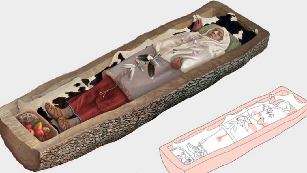 Des archéologues découvrent une femme celte enterrée depuis 2200 ans dans un tronc d'arbre