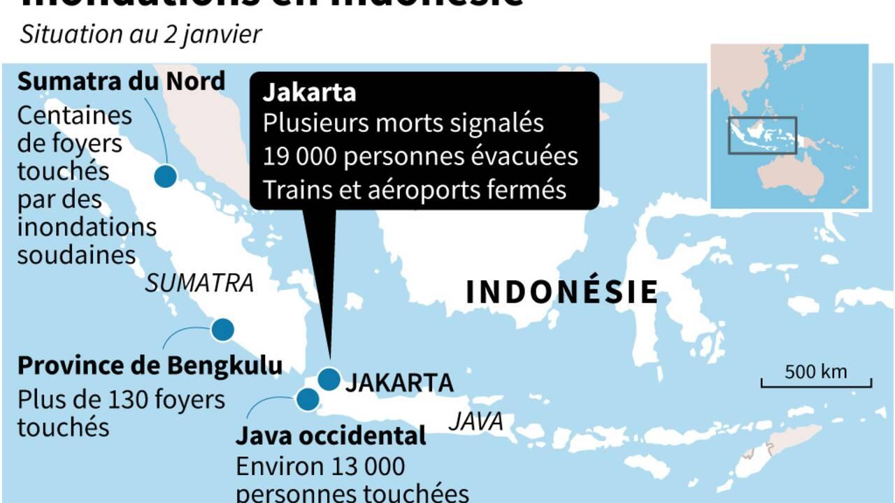 Inondations en Indonésie: le bilan s'élève à au moins 23 morts