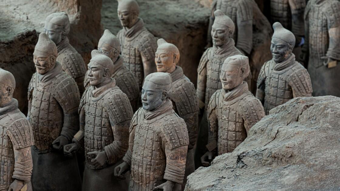 200 nouveaux guerriers de l'armée de terre cuite exhumés en Chine