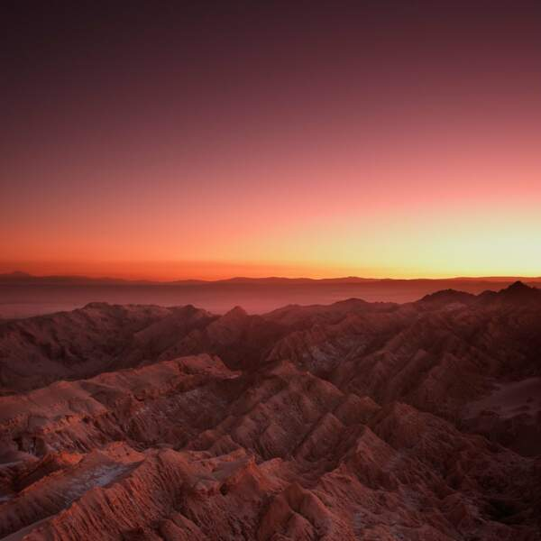 From Mars, Variation 1 : cordillera de la Sal, désert d'Atacama, Chili, 2016