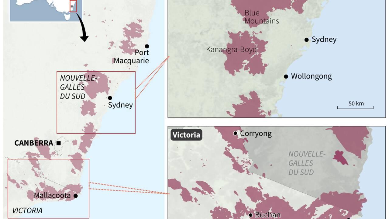Australie: les militaires exhortent des habitants à évacuer sous la menace des feux
