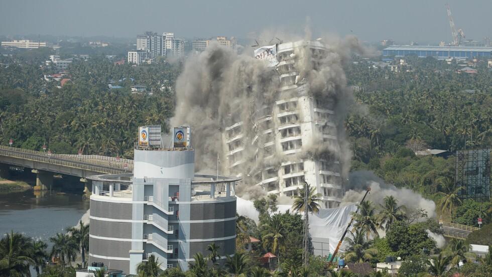 Inde: destruction de deux complexes luxueux violant les lois environnementales