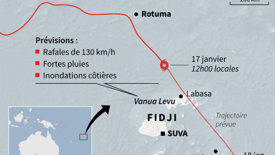 L'archipel des Fidji menacé par le cyclone Tino