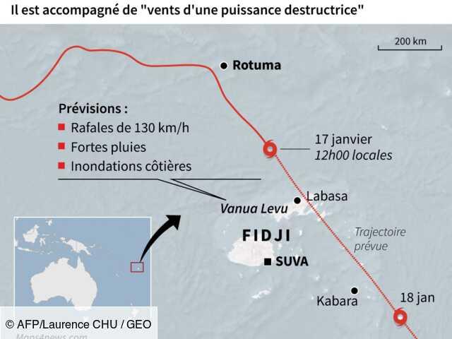 Le cyclone Tino va vers les îles Tonga après avoir fait deux disparus aux Fidji