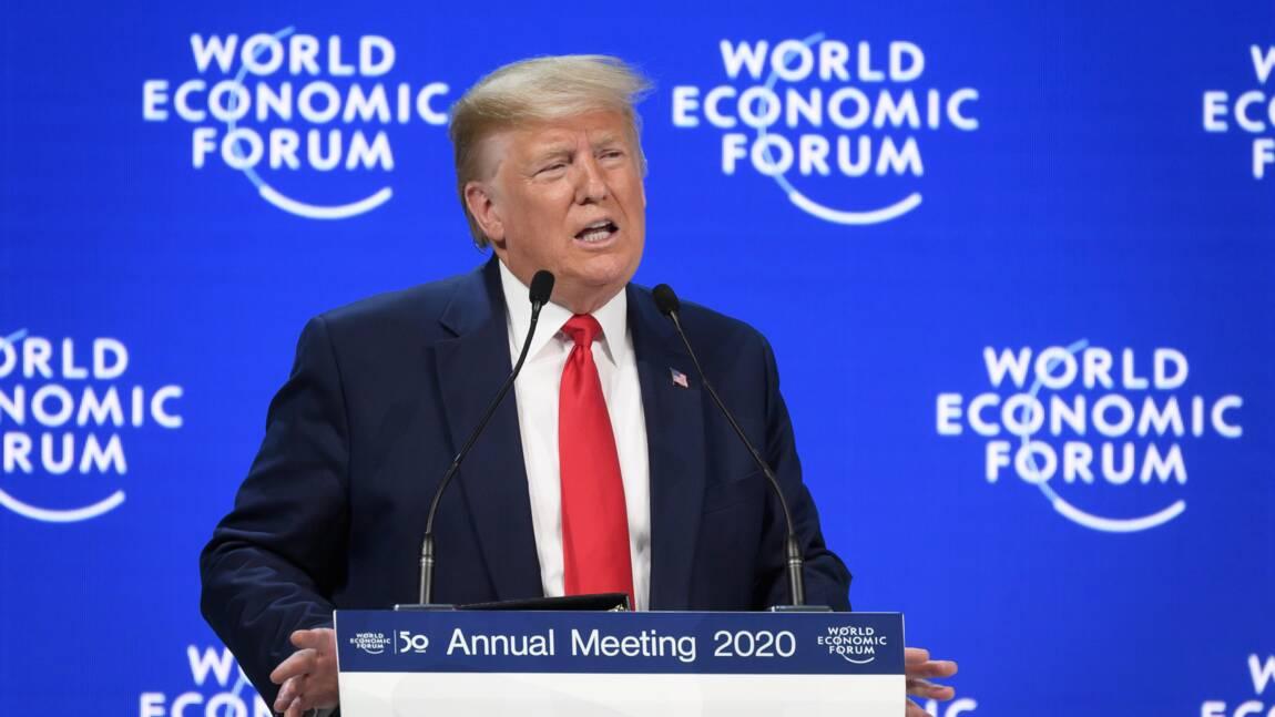 "Climat: à Davos, Trump fustige les ""prophètes de malheur"" devant Greta Thunberg"