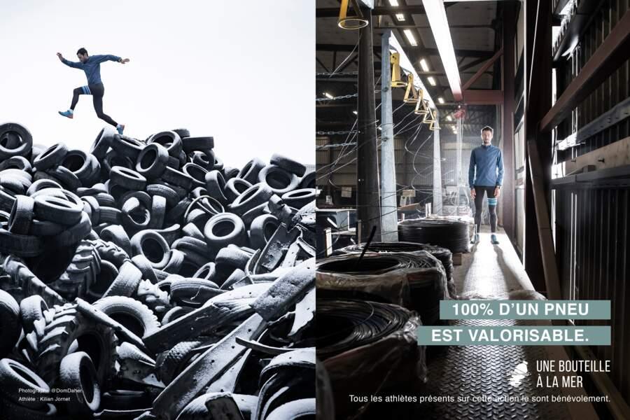 """""""On a créé des montagnes de poubelles, mais en triant et en recyclant, on peut les réduire considérablement"""", assure Kilian Jornet"""