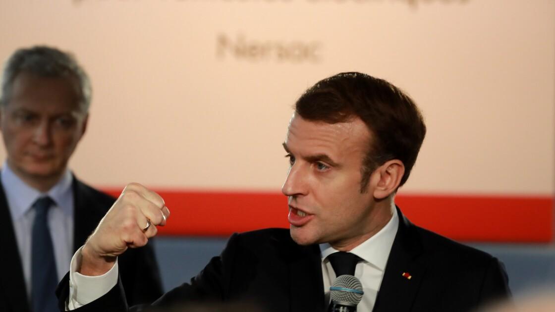 Macron vante le lien entre industrie et écologie dans une future usine de batteries électriques
