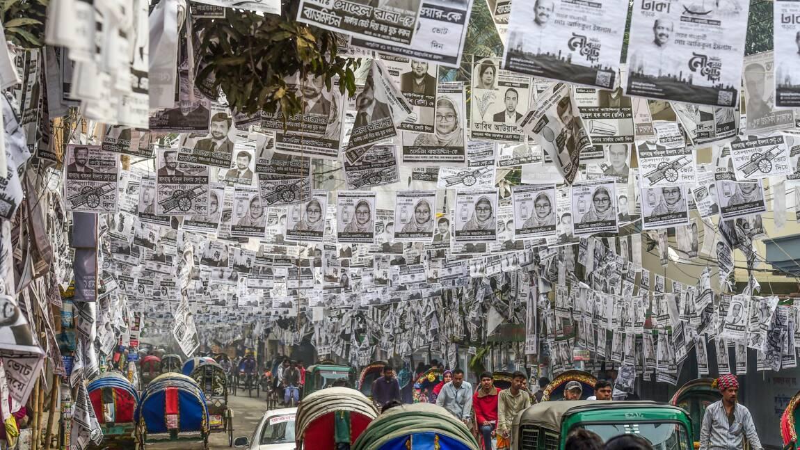 Bangladesh: la capitale Dacca noyée par des affiches électorales plastifiées