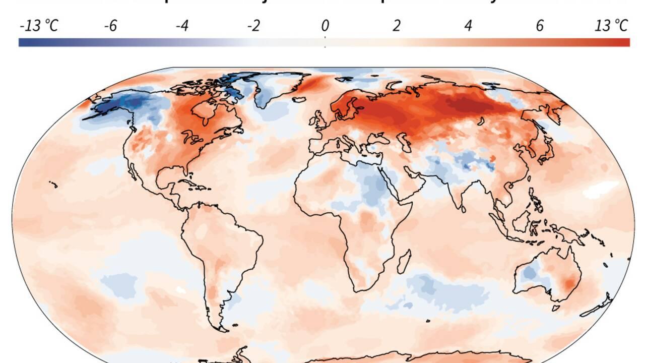 Janvier 2020 a été le mois de janvier le plus chaud jamais enregistré