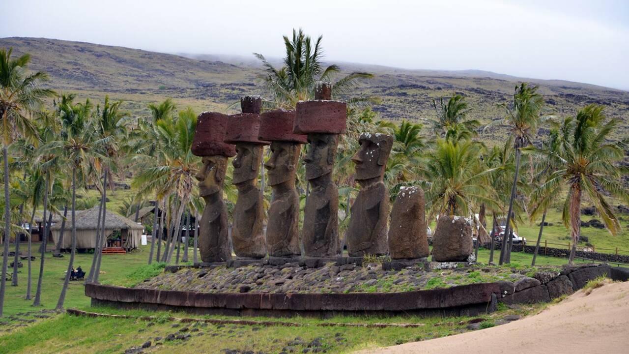 La société de l'île de Pâques n'aurait pas décliné avant l'arrivée des Européens