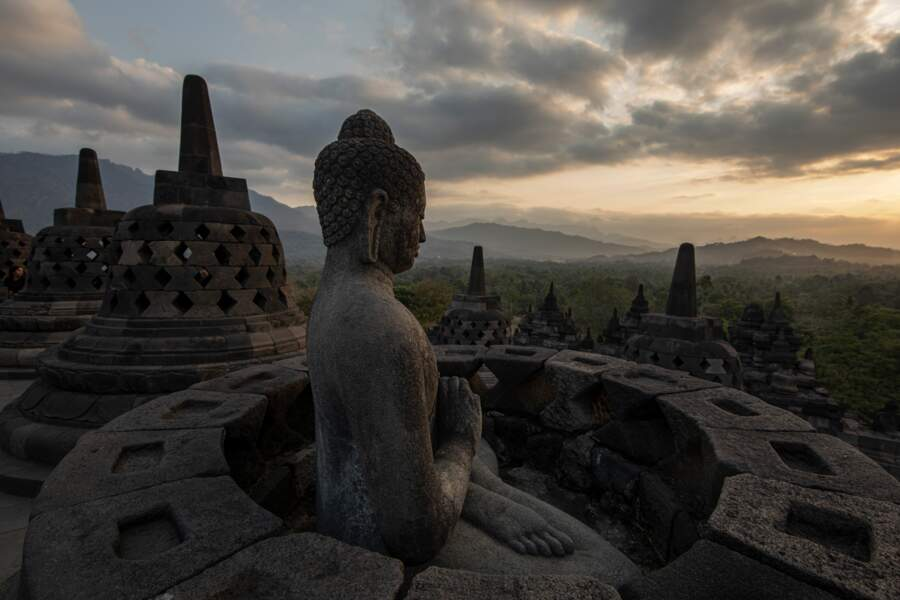 Temple bouddhiste de Borobudur