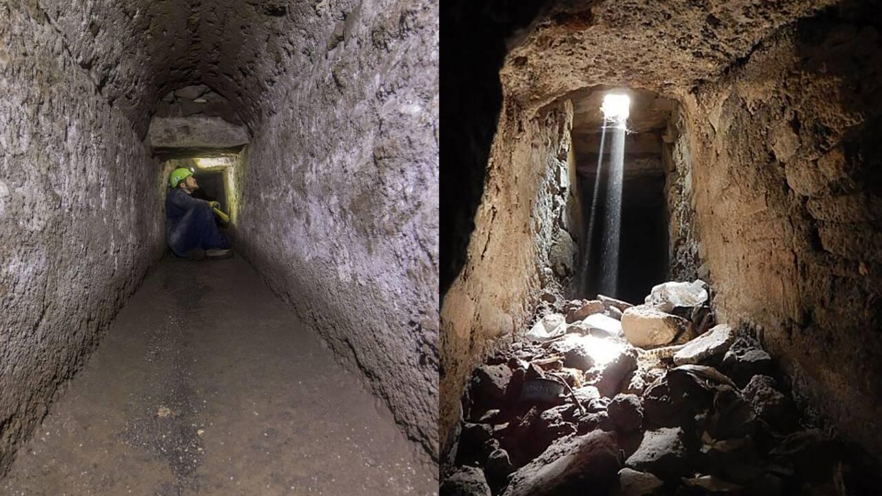 Des archéologues explorent les canaux et tunnels cachés sous le sol de Pompéi